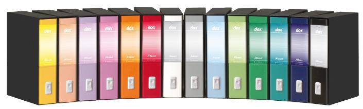 acco Etichetta di ricambio per dorso Dox GIALLO, 92x164 mm, per dox dorso 8 cm.