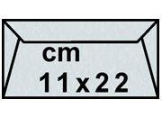 decadry Buste con strip Pergamena Laguna  Azzurro 207, formato C4 (11x22cm), 90grammi x mq.