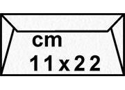 decadry Buste con strip Pergamena Laguna  Bianco 201, formato C4 (11x22cm), 90grammi x mq.