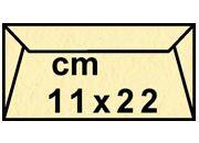 decadry Buste con strip Pergamena Laguna  Crema 205, formato C4 (11x22cm), 90grammi x mq.