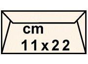 decadry Buste con strip Pergamena Laguna  Naturale 206, formato C4 (11x22cm), 90grammi x mq.