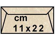 decadry Buste con strip Pergamena Laguna  Nocciola 204, formato C4 (11x22cm), 90grammi x mq.