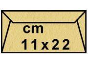 decadry Buste con strip Pergamena Laguna  Oro 203, formato C4 (11x22cm), 90grammi x mq.
