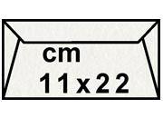 decadry Buste con strip Pergamena Laguna  Perla 210, formato C4 (11x22cm), 90grammi x mq.