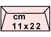 decadry Buste con strip Pergamena Laguna  Rosa 208, formato C4 (11x22cm), 90grammi x mq.