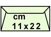 decadry Buste con strip Pergamena Laguna  Verde 209, formato C4 (11x22cm), 90grammi x mq.