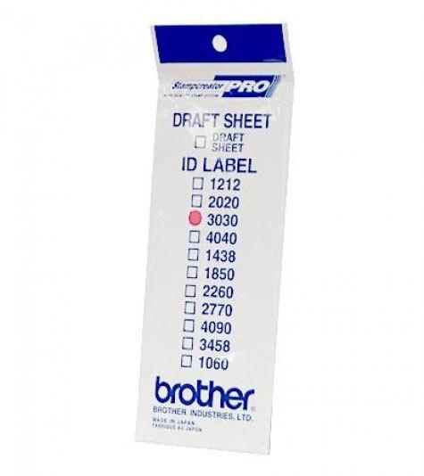 brothertimbri Etichetta di ricambio 30x30 per timbro Brother Digistamp formato 30x30mm. In una confezione di 6 timbri ci sono 12 etichette. Se vi serve qualche etichetta in più, per esempio, per fare delle bozze aggiuntive, queste sono le etichette da usare.