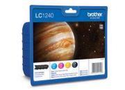 consumabili LC1240VALBP  BROTHER CARTUCCIA INK-JET NERO+TRICOLORE 600 PAGINES BLISTER SENZA ANTIACCHEGGIO MFC-/J6510DW/J6710DW/J6910DW.