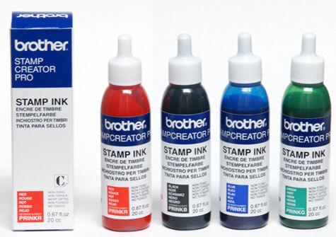 brothertimbri BLU inchiostro di ricarica Brother Digistamp flacone da 20cc.