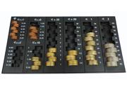 gbc Contenitore porta monete in euro composto da 6 vaschette scomponibili. Permette di contare e ordinare rapidamente le monete, garantendo un notevole risparmio di tempo. Otto colonne per tutti i tagli con indicazione dell'importo contenuto. Contiene 319 monete (201,4€) .