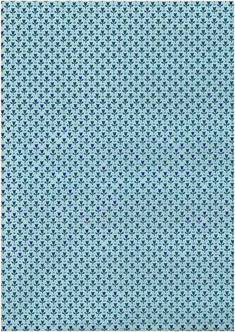 gbc Carta lavabile per foderare i cassetti FIORELLINI BLU. 50cm x 5 metri. Marca -Ideale-.