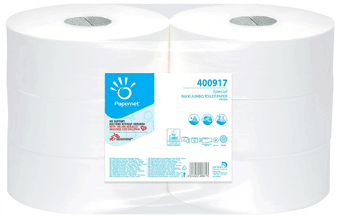 carta Carta igienica in rotolo jumbo maxi qualità special, 2 veli, goffratura micro, altezza 9,5cm, lunghezza cm, diametro 27cm, no strappi.