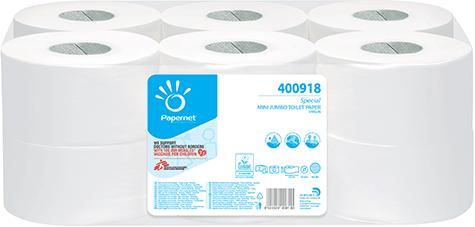 carta Carta igienica in rotolo jumbo mini qualità special, 2 veli, goffratura micro, altezza 9,5cm, lunghezza cm, diametro 19,5cm, no strappi.