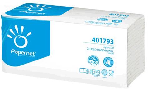 carta Asciugamani piegati a Z BIANCHI in pura cellulosa non riciclata, 2 veli, goffratura wave +, per uso alimentare, altezza 23cm, lunghezza 23,5cm.