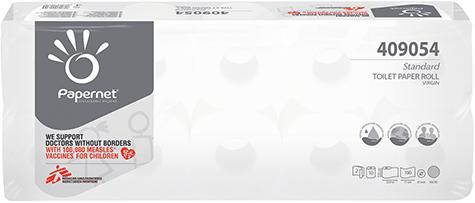 carta Carta igienica in rotolo normale qualità standard, 2 veli, goffratura micro, altezza 9,5cm, lunghezza 11cm, diametro 11cm, 190 strappi.