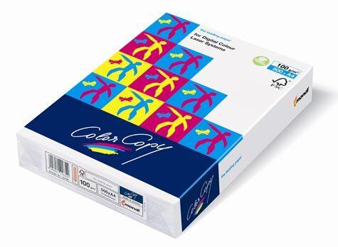 carta Carta Mondi-Neusiedler, Color Copy, 100 grammi, formato SRA3 (320x450mm) per laser a colori, sbiancata con il metodo ECF, certificata ISO 9706 e FSC, elevatissimi punto di bianco (160), opacità (93) e stabilità dimensionale, grado di liscio 105, spessore 106mm:1000, speciale trattamento della superficie per una perfetta riproduzione dei colori.