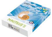 carta Carta per fotocopie Riciclata Mondi Nautilus SUPER WHITE, 80 grammi, formato A4 (210x297mm) 100% carta riciclata, certificata Ecolabel e FSC, Bianco ISO 150. Contraddistinta da un punto di bianco superiori alle normali carte riciclate.