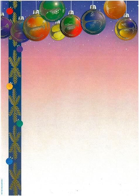 carta Carta personaizzata con cornice -christmas time- per stampanti laser & inkjet. Formato a4 (21x29,7 cm), 95gr x mq, personalizzata a tema.