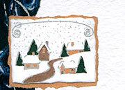 carta Carta personaizzata con cornice -silver blue christmas- DEC1025x100.