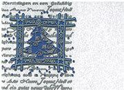 carta Carta personaizzata con cornice -silver blue fir- DEC1029x100.