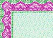 carta Carta personalizzata con cornice -shell torquise- DEC1055x70.