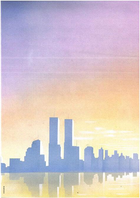 carta Carta personalizzata con soggetto -new york- per stampanti laser & inkjet. Formato a4 (21x29,7 cm), 95gr x mq, personalizzata a tema.