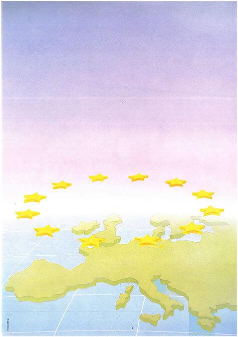 carta Carta personalizzata con soggetto -europe- per stampanti laser & inkjet. Formato a4 (21x29,7 cm), 95gr x mq, personalizzata a tema.