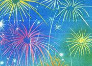 carta Carta personalizzata con soggetto -fireworks- DEC317S.