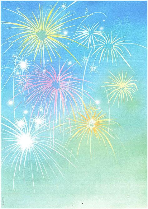 carta Carta personalizzata con soggetto -fireworks- per stampanti laser & inkjet. Formato a4 (21x29,7 cm), 95gr x mq, personalizzata a tema.