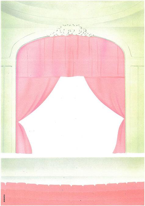 carta Carta personalizzata con soggetto -theatre- per stampanti laser & inkjet. Formato a4 (21x29,7 cm), 95gr x mq, personalizzata a tema.