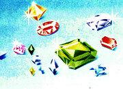 carta Carta personalizzata con soggetto -gems- per stampanti laser & inkjet. Formato a4 (21x29,7 cm), 95gr x mq, personalizzata a tema.