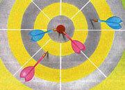 decadry Soggetto. target. carta 95gr. personalizzata a tema per stampanti laser & inkjet. formato a4 (21x29,7 cm), 95gr x mq, target.