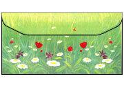 carta Busta 11x22cm -spring- Per stampanti laser & inkjet. Formato DL (220x110mm), personalizzate a tema.
