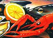 carta Carta personalizzata con soggetto -seafood- per stampanti laser & inkjet. Formato a4 (21x29,7 cm), 95gr x mq, personalizzata a tema.