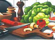 carta Carta personalizzata con soggetto -culinary art- per stampanti laser & inkjet. Formato a4 (21x29,7 cm), 95gr x mq, personalizzata a tema.
