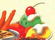 decadry Soggetto. desserts. carta 95gr. personalizzata a tema per stampanti laser & inkjet. formato a4 (21x29,7 cm), 95gr x mq, desserts.