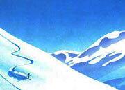 carta Carta personalizzata con soggetto -skiing- per stampanti laser & inkjet. Formato a4 (21x29,7 cm), 95gr x mq, personalizzata a tema.