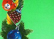 carta Carta personalizzata con soggetto -christmas ornaments- per stampanti laser & inkjet. Formato a4 (21x29,7 cm), 95gr x mq, personalizzata a tema.