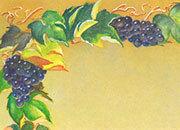 carta Carta personalizzata con soggetto -grapes- per stampanti laser & inkjet. Formato a4 (21x29,7 cm), 95gr x mq, personalizzata a tema.