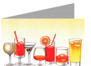 decadry Formato A4, drink, 135gr laser & inkjet. Piegati in 2, drink.