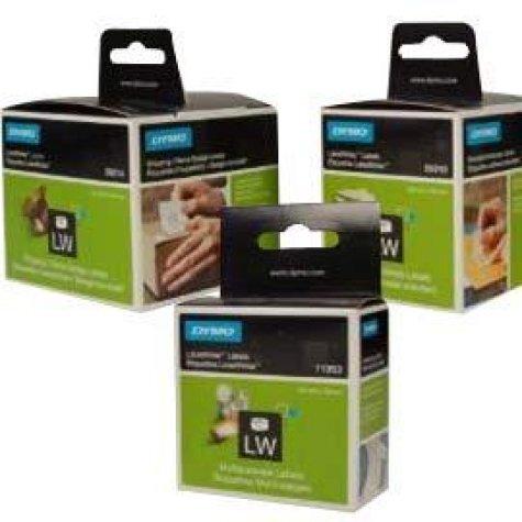 gbc Etichette per Dymo LabelWRITER 28x89mm, Bianco (S0722370) etichette originali Dymo LabelWRITER, Indirizzi Std., 2 rotoli da 130 etichette, adesivo PERMANENTE.
