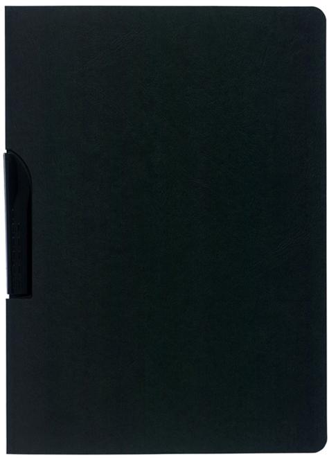 gbc Cartellina di presentazione Clip Design NERO. In resistente cartoncino Manila da 400 g-mq. Rilega fino a 30 fogli con una capiente molla laterale..