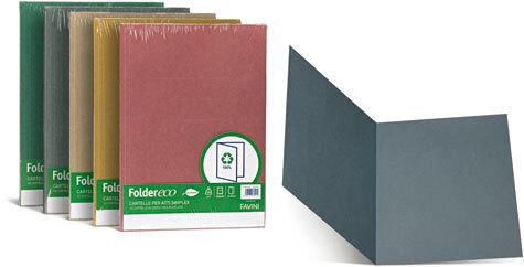 carta Folder ECO Simplex 180,  LAVANDA formato T7 (25 x 34cm), 180gr. Una linea di cartelline semplici in cartoncino ecologico riciclato al 100%.