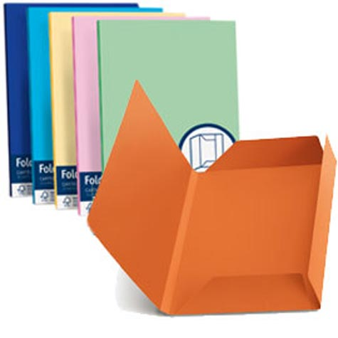 carta Folder 3 Lembi 200, Mix di 5 colori formato BC (24,5X34,5cm), 200gr. 25 cartelline assortite in 5 colori (5 per colore). .