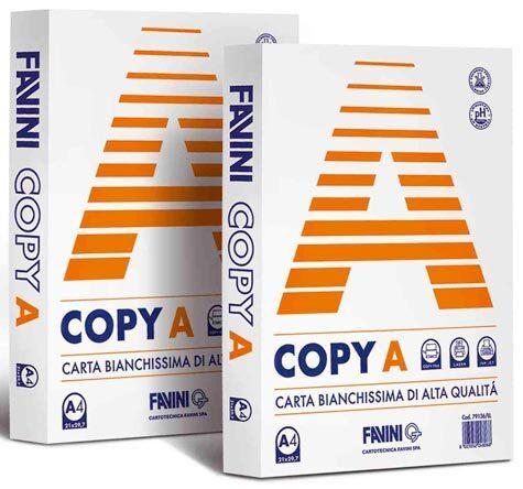 carta COPY A 80 BIANCA formato A4 (21 x 29,7cm), 80gr, 500 fogli.