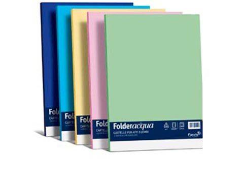 carta Folder 3 Lembi Luce 200, MIX 6 COLORI FORTI formato BC (24,5X34,5cm), 200gr, 6 cartelline.