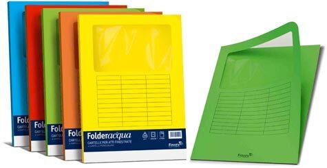 carta Folder con Finestra Luce 140, SCARLATTO 61 formato LT (22 x 31cm), 140gr, 10 cartelline.