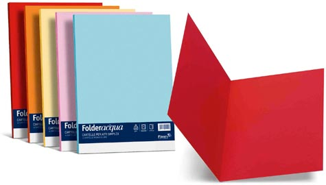 carta Folder Cartellina Simplex Luce200, Azzurro55 formato T7 (25 x 34cm), 200gr, 25 cartelline.