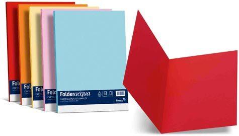 carta Folder Simplex Acqua 200, Giallo 07 formato T7 (25 x 34cm), 200gr, 25 cartelline.