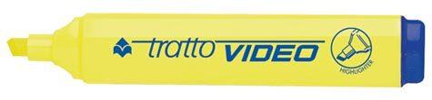 acco Evidanziatore fluorescente GIALLO TRATTO VIDEO punta a scalpello 1-5mm.